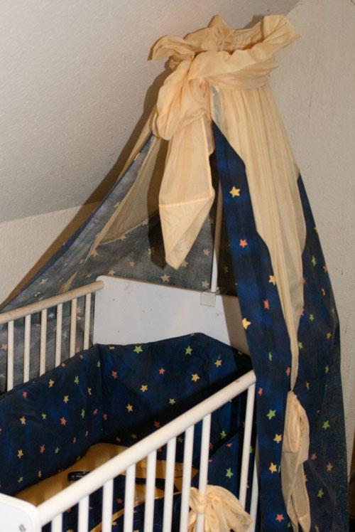 bett set z llner himmel bettw nestchen sterne top dklblau mit gelben chif ebay. Black Bedroom Furniture Sets. Home Design Ideas